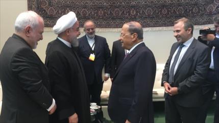 Rohani afirma que Irán siempre estará al lado de El Líbano