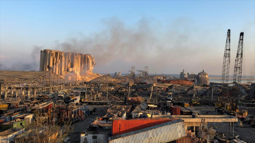 Escena de la explosión que golpeó el puerto de Beirut, capital de El Líbano, 5 de agosto de 2020. (Foto: Reuters)