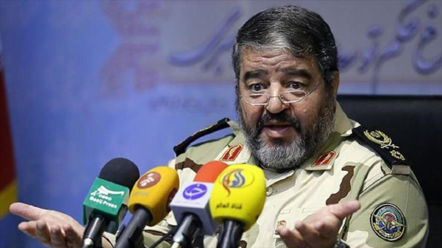 El jefe de la Organización de Defensa Pasiva de Irán, el general de brigada Qolam Reza Yalali.