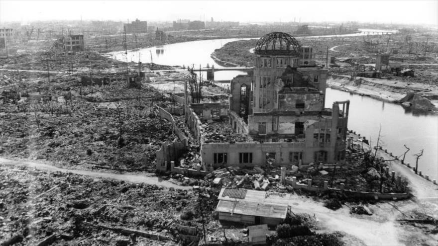 La ciudad destruida de Hiroshima después del bombardeo atómico estadounidense, noviembre de 1945, Japón. (Foto: Reuters)