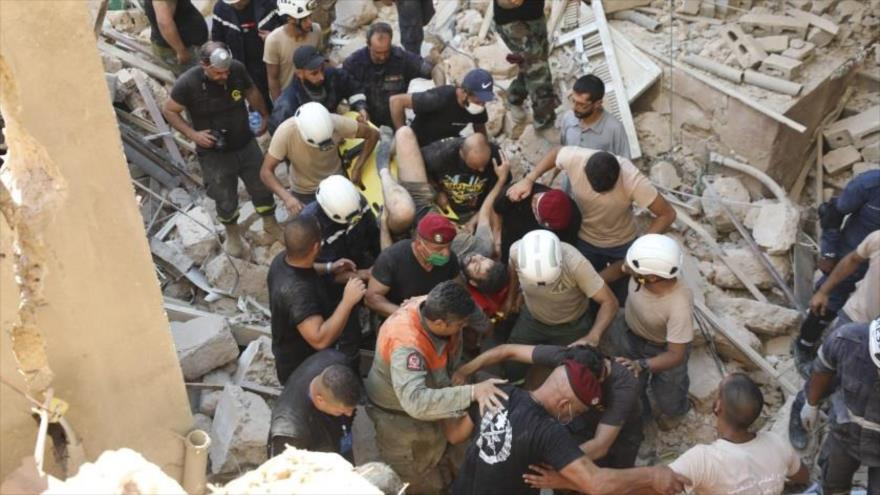 Explosión de Beirut en plena sanciones agrava COVID-19 en El Líbano | HISPANTV