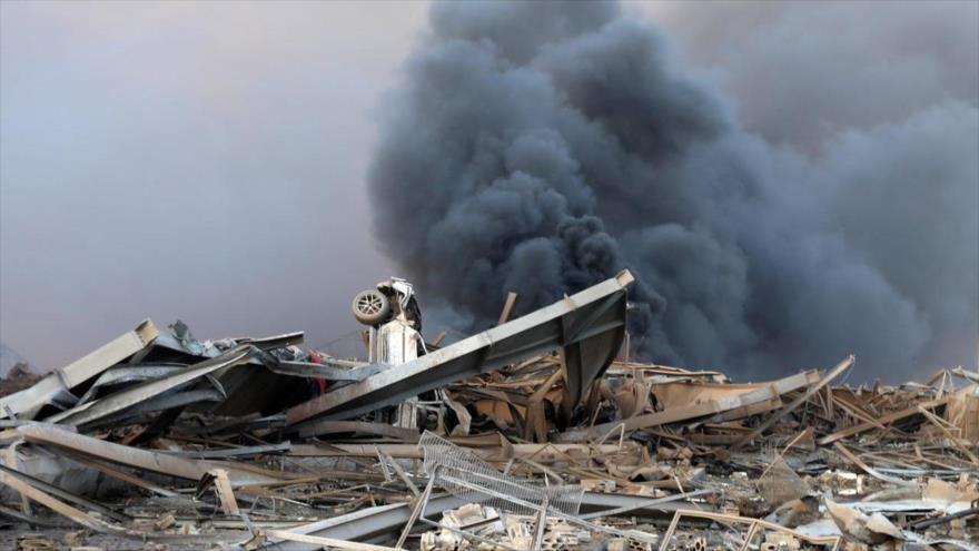 Daños causados por la potente explosión que sacudió Beirut, capital libanesa, 4 de agosto de 2020. (Foto: Reuters)