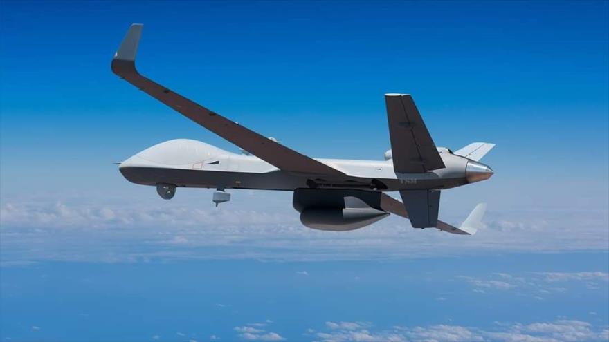 Un dron de vigilancia de la flota estadounidense SeaGuardian.