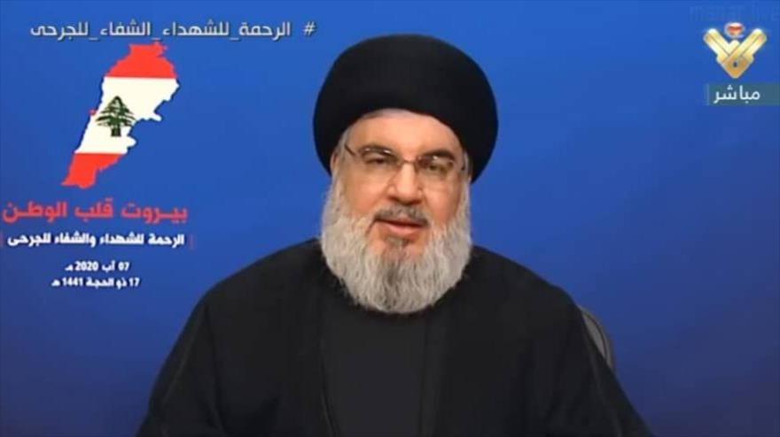 Nasralá niega cualquier vínculo de Hezbolá con explosión de Beirut | HISPANTV