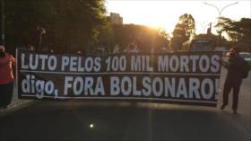 """Grito """"¡Fuera, Bolsonaro!"""" llena otra vez las calles de Brasil"""
