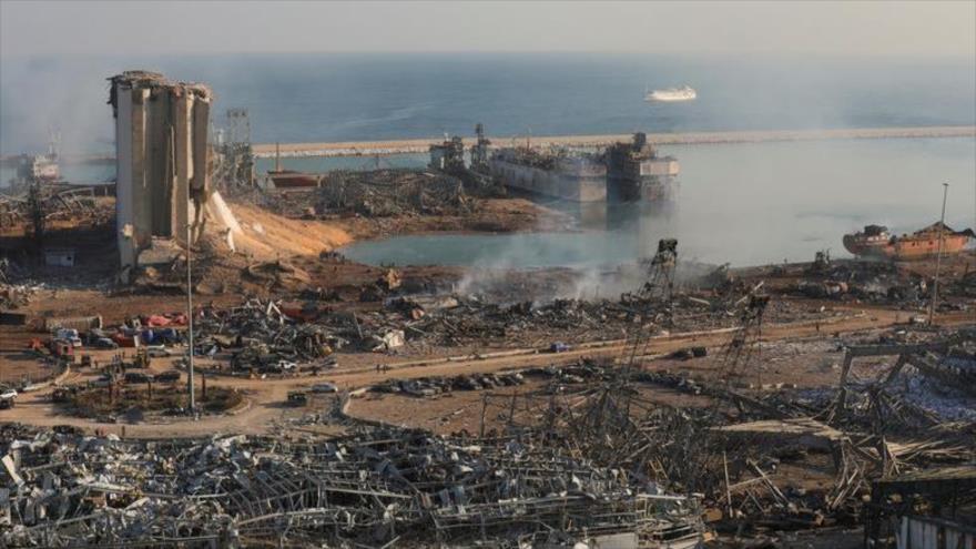 Una vista general de daños causados por la explosión en el puerto de Beirut, capital libanesa, 5 de agosto de 2020. (Foto: Reuters)