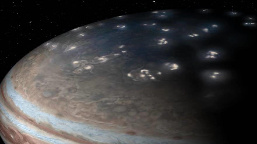 Vídeo: NASA muestra relámpagos superficiales en Júpiter