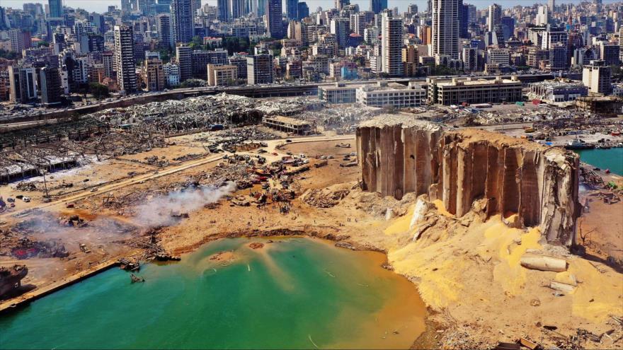 La explosión de Beirut deja un cráter de 43 metros de profundidad | HISPANTV