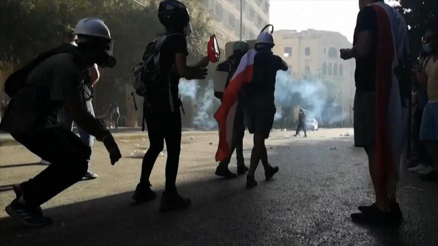 Libaneses apoyados desde extranjero piden renuncia de autoridades