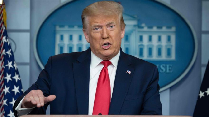 El presidente de EE.UU., Donald Trump, habla en una rueda de prensa en la Casa Blanca, 2 de julio de 2020. (Foto: AFP)