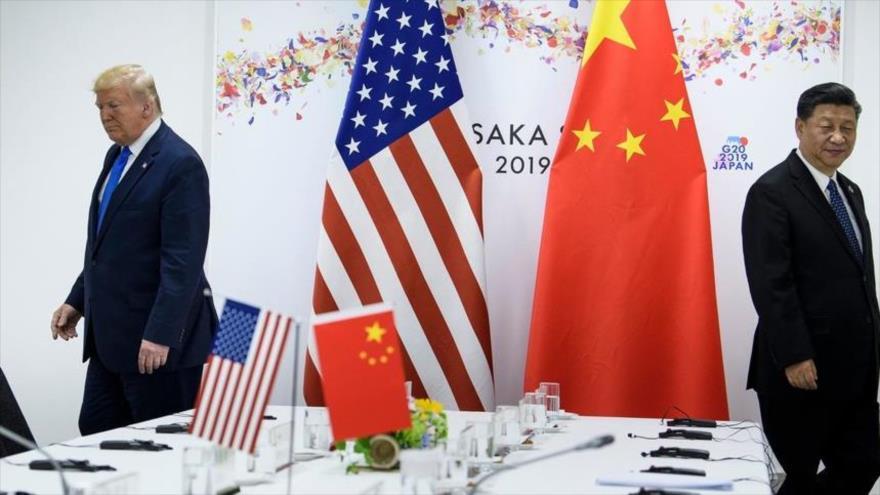 El presidente de EE.UU., Donald Trump, y su homólogo chino, Xi Jinping, durante una reunión en Osaka al margen de la cumbre del G20, junio de 2019.