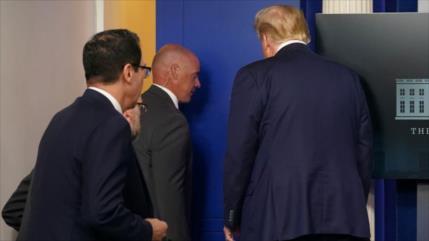 Vídeo: Trump corta su discurso por tiroteo cerca de la Casa Blanca