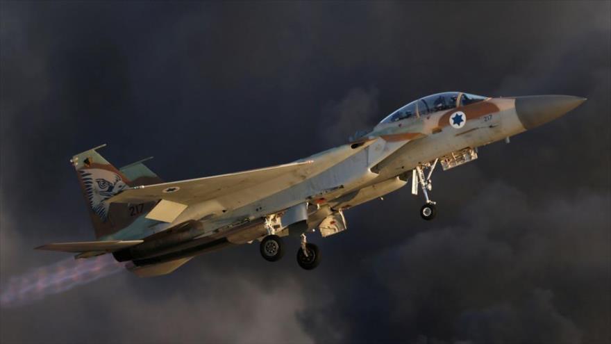 Un avión de combate israelí, modelo F-15.