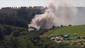 Grave descarrilamiento de tren en Escocia deja al menos 3 muertos