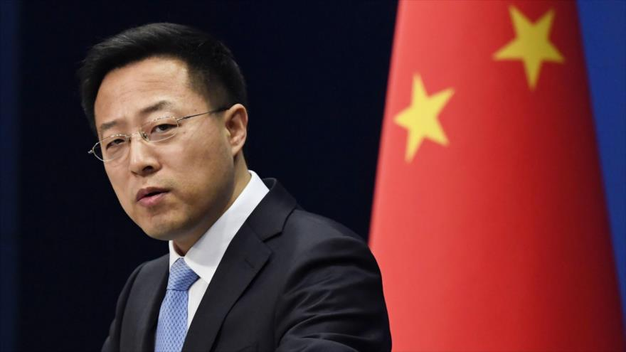 El portavoz del Ministerio de Relaciones Exteriores de China, Zhao Lijian.