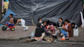 Vídeo: Indígenas colombianos viven en un parque en plena pandemia
