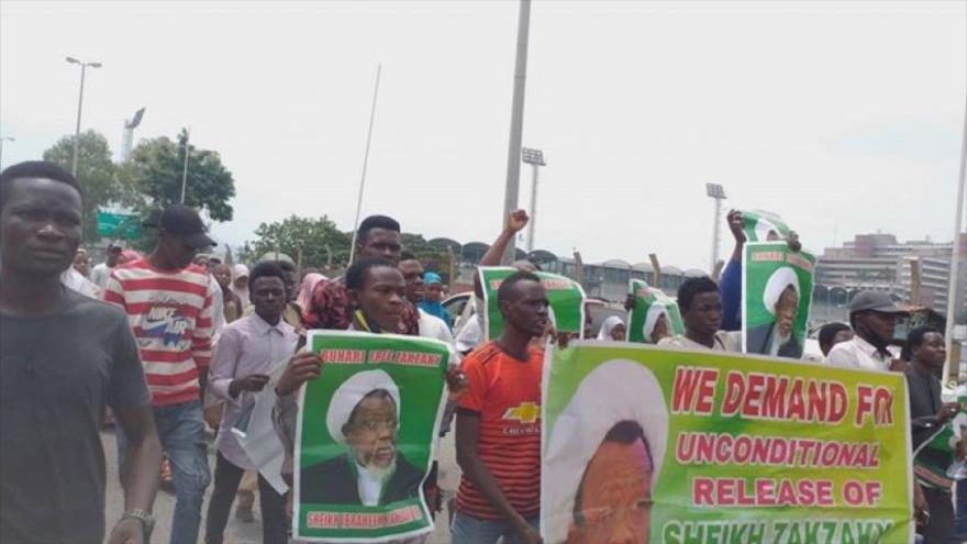Manifestantes en Nigeria piden liberación inmediata de Al-Zakzaky