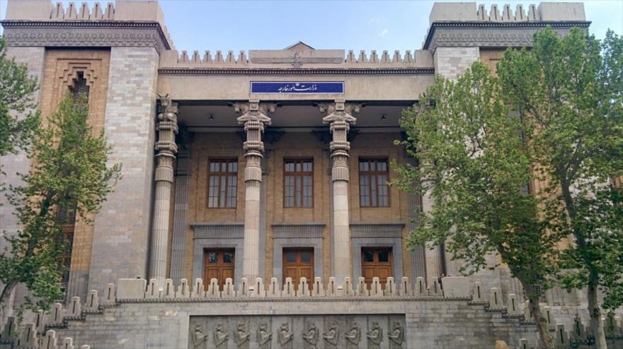 El edificio del Ministerio de Asuntos Exteriores de Irán, en Teherán (la capital).