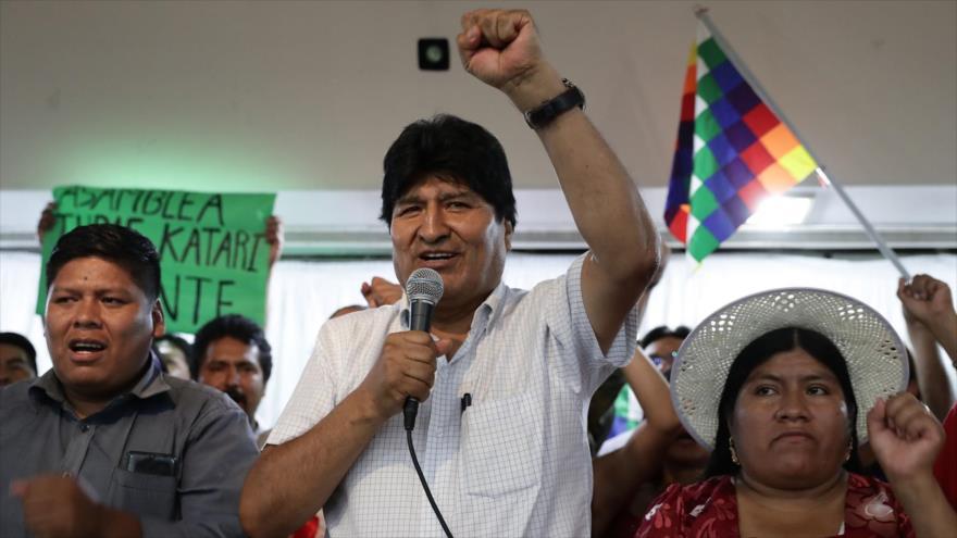 Morales felicita a MAS por abrir camino democrático para comicios   HISPANTV