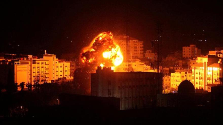 Un ataque del régimen israelí contra la asediada Franja de Gaza.