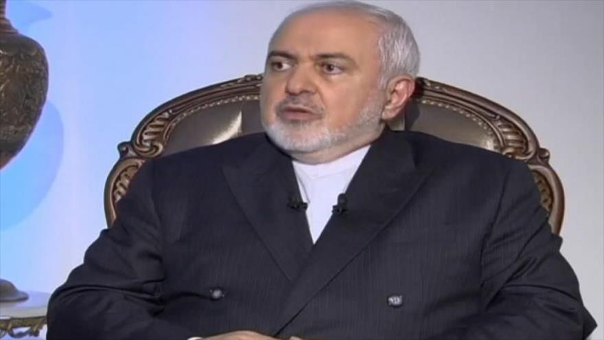 El canciller irani, Mohamad Yavad Zarif, concede una entrevista a la cadena libanesa Al Mayadeen, 14 de agosto de 2020.