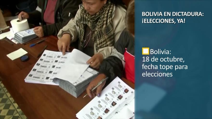 PoliMedios: Bolivia en dictadura; ¡Elecciones, ya!