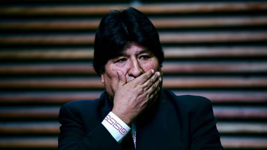 El depuesto presidente de Bolivia, Evo Morales, en una conferencia de prensa en Buenos Aires, Argentina, 21 de febrero de 2020. (Foto: AFP)