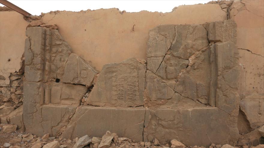 Un sitio arqueológico dañado por los terroristas en Siria.