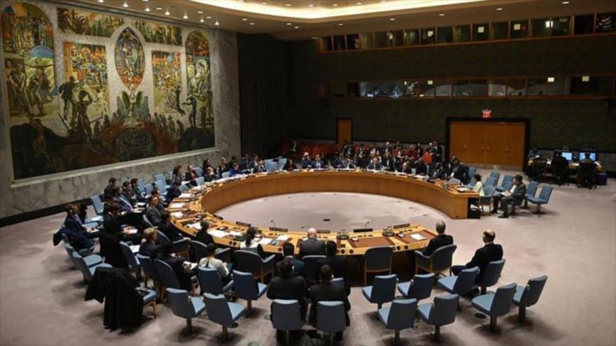 Una sesión del Consejo de Seguridad de las Naciones Unidas (CSNU) celebrada en Nueva York, EE.UU., 26 de febrero de 2020. (Foto: AFP)