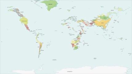 ¿Cómo se vería el mapa del mundo si el nivel del agua fluctúa?
