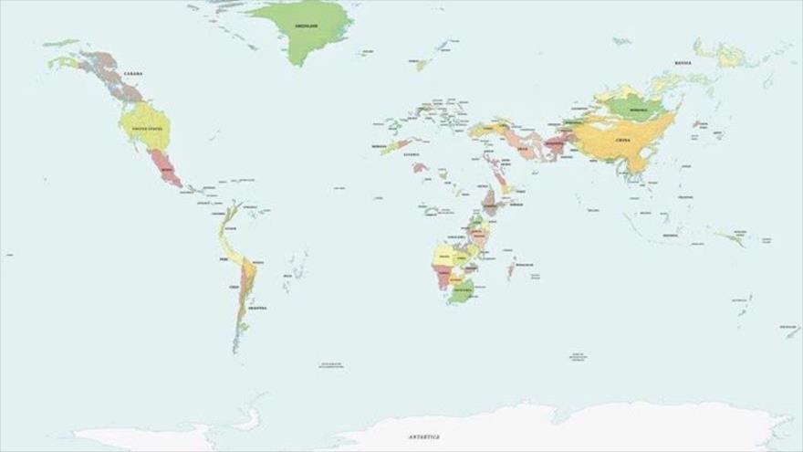 El mapa mundial si el nivel del océano sube 1000 metros. (Foto: Reddit BasedMaps)