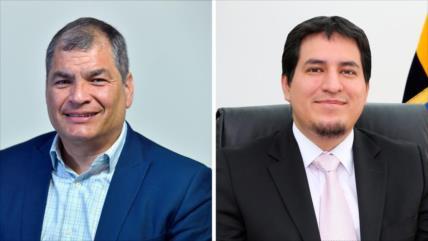 Centro Democrático elige a Correa y Arauz para elecciones en Ecuador