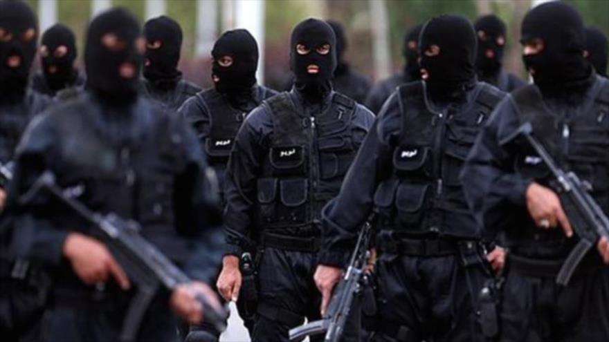 Fuerzas de seguridad iraníes durante una misión.