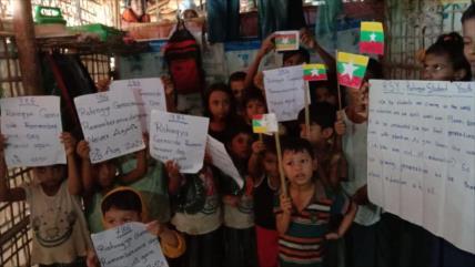 Rohingya exigen justicia 3 años después de su genocidio en Myanmar