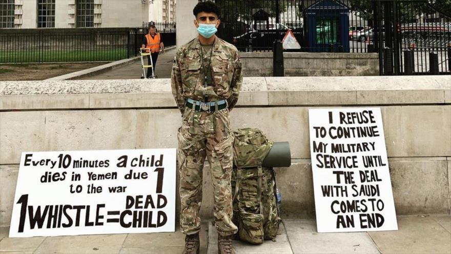Soldado británico detenido por denunciar venta de armas a Riad