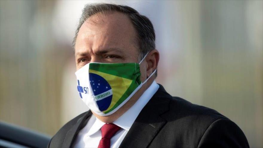 El ministro de Salud de Brasil, Eduardo Pazuello.