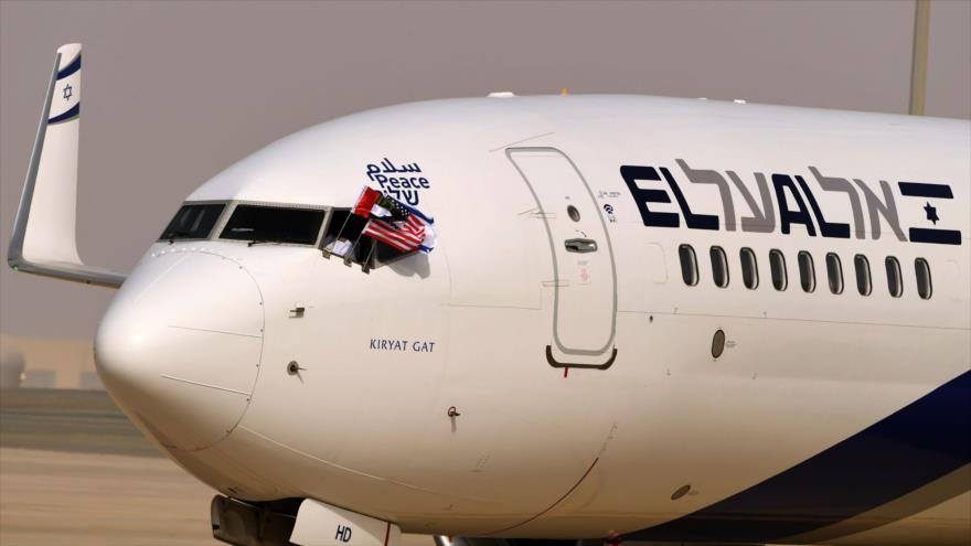 Primer vuelo oficial Israel-Emiratos desata indignación mundial | HISPANTV