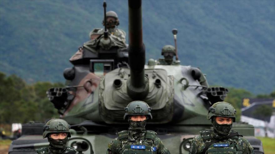 Fuerzas militares de Taiwán durante una maniobra.