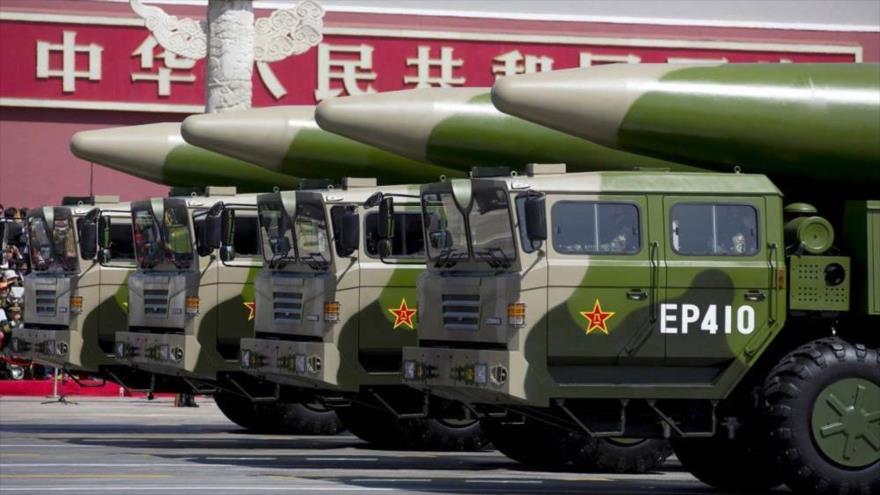 Desfile de arsenal nuclear chino.