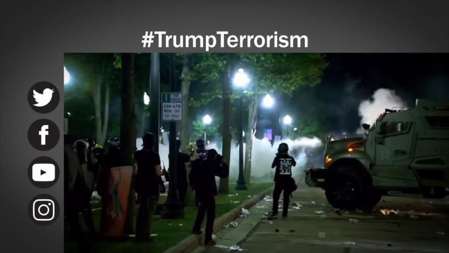 Etiquetaje: Trump, un presidente que fomenta terrorismo y violencia