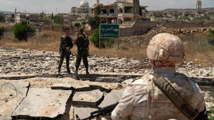 Vídeo: Fuerzas rusas patrullan línea divisoria en altos del Golán