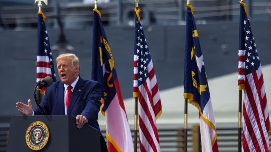 El presidente de EE.UU., Donald Trump, ofrece un discurso en Wilmington, Carolina del Norte, 2 de septiembre de 2020. (Foto: AFP)