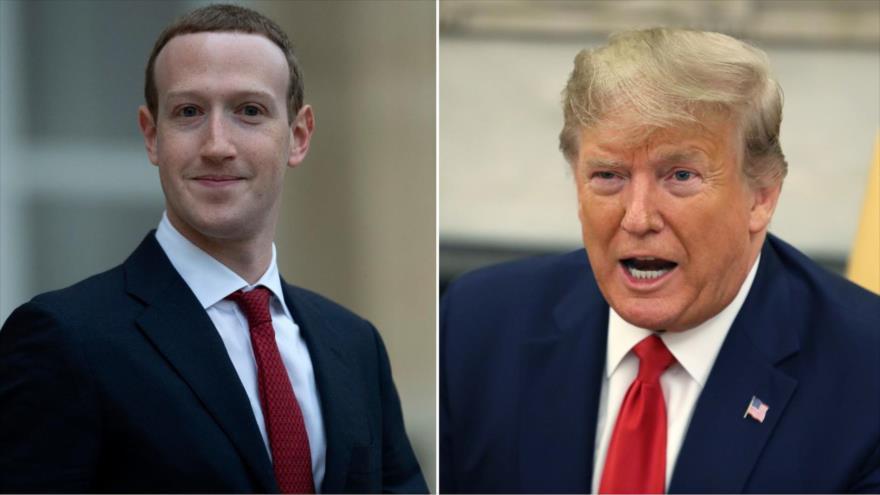 Presidente de EEUU, Donald Trump (dcha.), y el dueño de Facebook, Mark Zuckerberg.