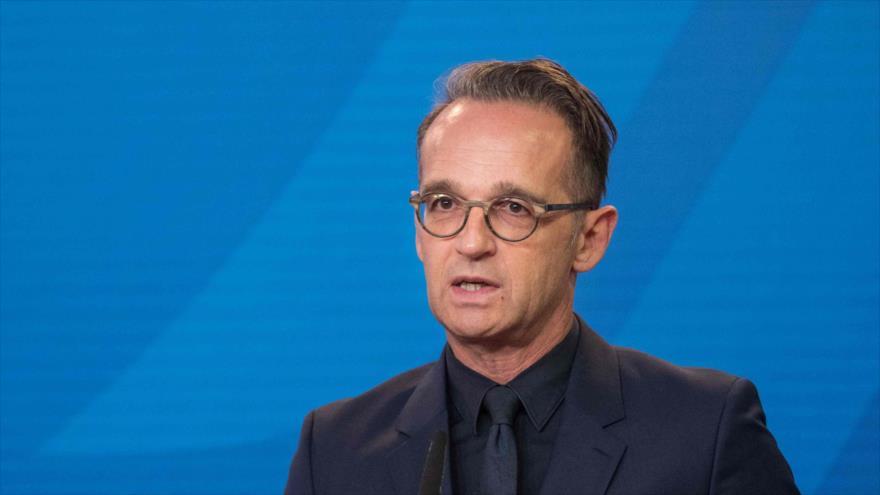 El ministro de Exteriores alemán, Heiko Maas, habla en una conferencia de prensa en Berlín, la capital, 2 de septiembre de 2020. (Foto: AFP)