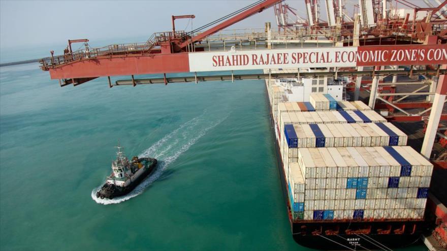 El puerto de Shahid Rayai, ubicado en la provincia iraní meridional de Hormozgan.