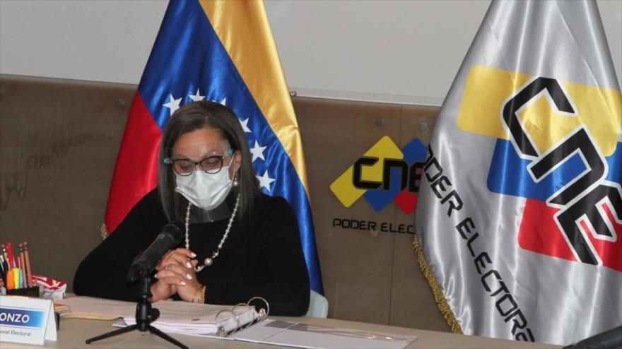 La presidenta del Consejo Nacional Electoral (CNE) de Venezuela, Indira Alfonzo.