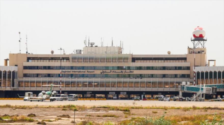 El Aeropuerto Internacional de Bagdad, la capital de Irak.