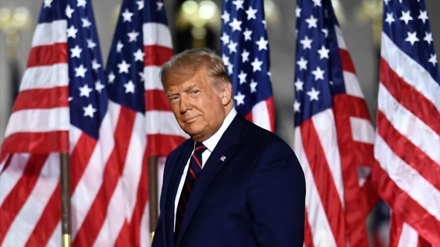 El presidente de EE.UU., Donald Trump, en la Convención Nacional Republicana en Washington D.C., la capital, 27 de agosto de 2020. (Foto: AFP)