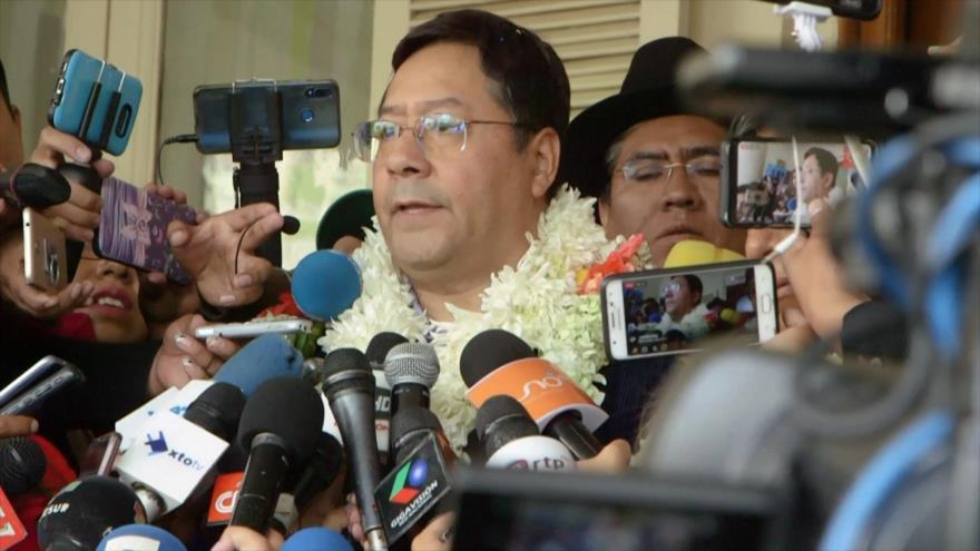 Arce promete estabilidad política si gana elecciones en Bolivia