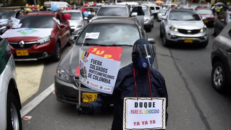 Trabajadores de Colombia realizan paro contra Gobierno de Duque